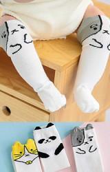 ถุงเท้าแบบยาวลายสัตว์น่ารัก เจ้าตูบแมว และแพนด้า