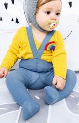ถุงน่องเด็กแบบมีสายเอี๊ยมยางยืดในตัว