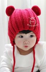 หมวกไหมพรมเด็กแต่งหูมิกกี้น่ารัก