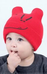 หมวกบีนนี่สกรีนยิ้มน่ารัก