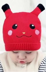หมวกไหมพรมเด็กหน้าการ์ตูนปิกาจู TIANYIBEAR
