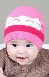 หมวกบีนนี่เด็กเล็กหน้าแมวน้อย  TIANYIBEAR