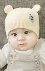 หมวกบีนนี่เด็กลายหน้าหมีน้อยแต่งหูน่ารัก จาก GZMM