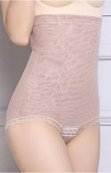 กางเกงกระชับหน้าท้องเอวสูงลายดอกมีตะขอช่วงเป้า