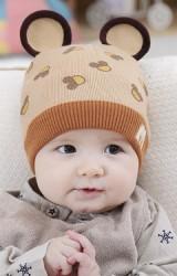 หมวกไหมพรมลายมิกกี้แต่งหูน่ารักๆ แต่งอักษร M