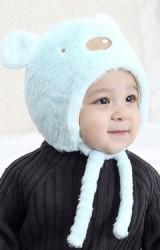 หมวกหมีน้อย ขนฟูนุ่มพร้อมซับผ้ายืด TIANYIBEAR