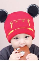 หมวกบีนนี่หน้าหมีน้อยแต่งหูมิกกี้