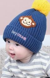 หมวกไหมพรมลิงจ๋อ ปัก heymonk