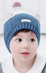 หมวกไหมพรมยอดแหลมแต่งหูหมี TUTUYA