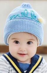 หมวกไหมพรมยอดแหลมแต่งอักษร milk   TUTUYA