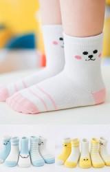 ถุงเท้าเด็กแพ็ค 5 คู่ ลายสัตว์น่ารักและลายขวาง