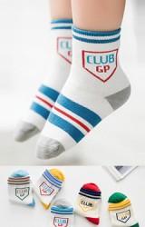 ถุงเท้าเด็กลายขวาง CLUB GP แพ็ค 5 คู่