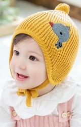หมวกไหมพรมยอดแหลมแต่งลูกเจี๊ยบหัวโตน่ารัก TUTUYA