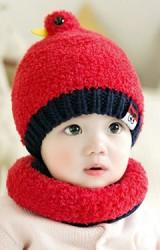 เซ็ตหมวกกันหนาวรูปนกน่ารักมาพร้อมผ้าสวมคอ