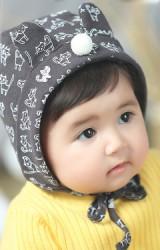หมวกบอนเนตลายแมวแต่งหูน่ารัก จาก Angel Neitiri
