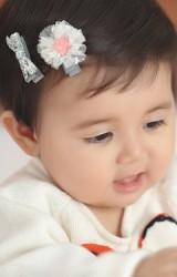 กิ๊บเด็กเซ็ต 2 ชิ้น รูปโบว์และดาวแต่งระบาย  Angel Neitiri
