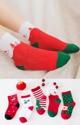 เซ็ตถุงเท้าคริสต์มาส แพ็ค 5 คู่