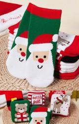 ถุงเท้าคริสต์มาสแบบหนา แพ็ค 6 คู่