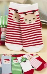 ถุงเท้าคริสต์มาสแบบหนา แพ็ค 3 คู่