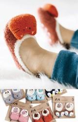 ถุงเท้าเด็กผ้าขนนุ่มๆแต่งตุ๊กตาสัตว์น่ารัก