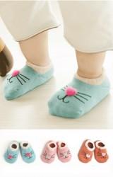 ถุงเท้าเด็กแบบหนาลายหน้าแมวน้อย