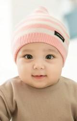 หมวกเด็กยอดแหลมลายขวาง GZMM