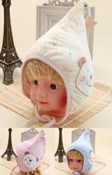 หมวกเด็กยอดแหลม ด้านข้างแต่งหมี ปลายหมวกแต่งดาว