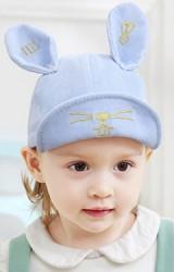 หมวกแก๊ปกระต่ายหูตั้งผ้าลูกฟูก ปัก Hi!