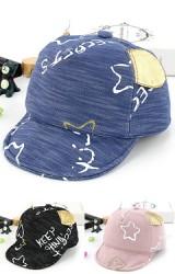 หมวกแก๊ปสกรีนลายอักษรและดาวแต่ หูสีทอง  KUKUJI