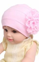 หมวกเด็กหญิงแต่งดอกไม้ฟูใหญ่