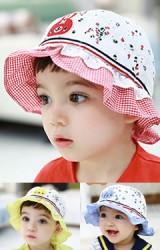 หมวกเด็กหญิงปักกระต่ายน้อย ชายระบายสองชั้น TUTUYA