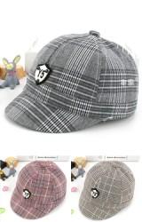 หมวกแก๊ปลายตาราง แต่งป้าย Y5