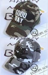 หมวกแก๊ปลายพราง ปักอักษร GOOD DAY