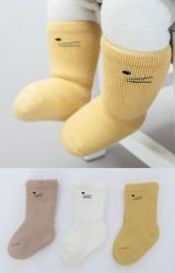 ถุงเท้าเด็กแบบหนาแพ็ค 3 คู่ ลายหน้าแมว