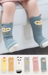 ถุงเท้าเด็กแบบหนาลายหน้าสัตว์แต่งหูเล็กๆ น่ารัก