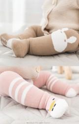 ถุงเท้าเด็กแบบหนาเซ็ต 2 ชิ้น สนับเข่าและถุงเท้า