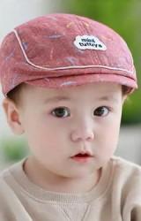 หมวกแฟล็ตแค็ปลายใบไม้ ตัดขอบกุ้นขาว TUTUYA