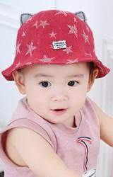 หมวก Bucket ลายดาวแต่งหูน่ารัก