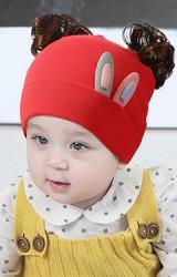 หมวกปอยผมแต่งหูกระต่ายเล็ก ปอยผมด้านบน TIANYIBEAR