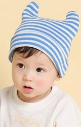 หมวกบีนนี่เด็กพับขอบลายขวาง