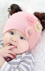 หมวกปอยผมสาวน้อยแต่งดอกไม้ 3 ดอกTIANYIBEAR