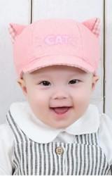 หมวกแก๊ปผ้าฝ้ายเด็กเล็ก ปักอักษร CAT