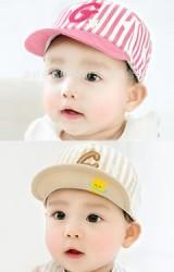 หมวกแก๊ปเด็กลายทางและดาว ปักอักษร G จาก GZMM