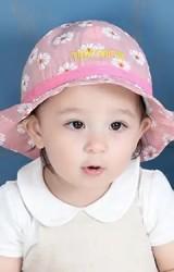 หมวกสาวน้อยลายดอก ปลายปีกโค้ง TAINYIBEAR