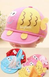 หมวกแก๊ปเด็กเล็กรูปปลาน่ารัก