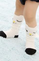 ถุงเท้าเด็กหน้าการ์ตูน แบบยาว มีกันลื่น Kacakid