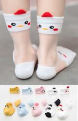 ถุงเท้าเด็กฤดูร้อนขอบหน้าสัตว์แต่งหูน่ารัก แพ็ค 5 คู่(C623)