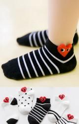 ถุงเท้าเด็กลายหัวใจ แพ็ค 5 คู่(C597)