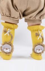ถุงเท้าเด็กแบบข้อยาวแต่งตุ๊กตาสิงโต