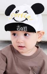 หมวกแก๊ปแต่งหูด้านหน้าปัก Smile  ใต้ปีกปัก GO!!
